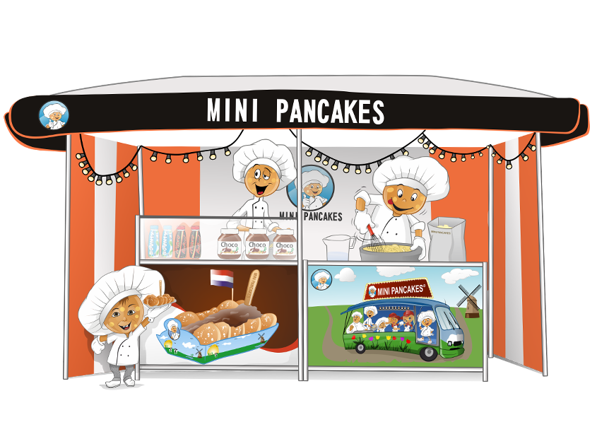 poffertjes tent illustratie