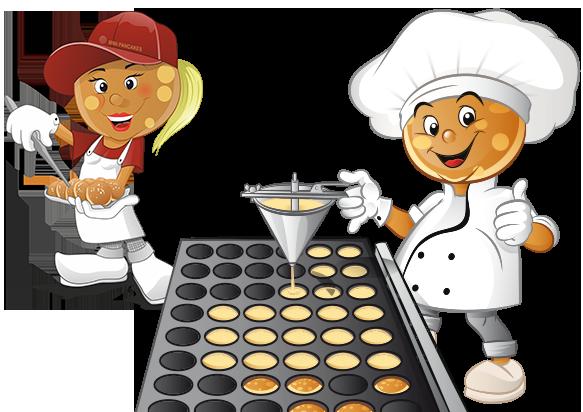 pofmans bakt poffertjes